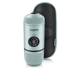 Wacaco Nanopresso for ground coffee in Arctic Blue with protective case