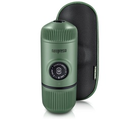 Wacaco Nanopresso for ground coffee in Moss Green with protective case