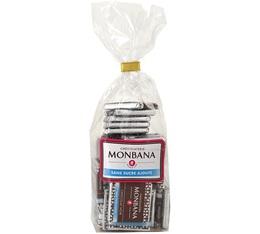 Napolitains chocolat noir sans sucre ajouté - 120g (environ 30 carrés) - Monbana