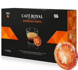 Capsules compatibles Nespresso® pro Espresso Forte x 50 - Café Royal Office Pads