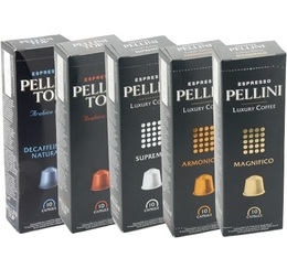 Pack Découverte - 600 Capsules Pellini pour Nespresso