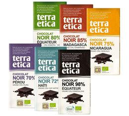 Pack de 6 Tablettes 100% chocolat Noir 6x100g - Terra Etica