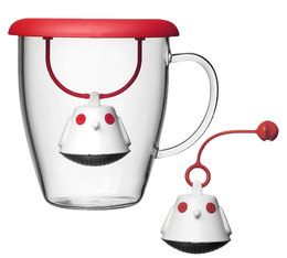 40cl glass mug and 2 x Birdie tea infusers - QDO
