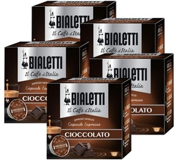 BIALETTI Mokespresso Chocolate-flavoured coffee capsules x 60