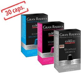 Pack découverte capsules compatibles Nespresso® 3 x 10 - Corsini