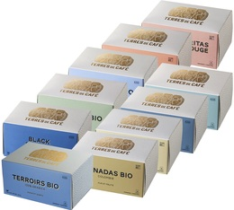 Pack découverte Terres de café - 60 capsules pour Nespresso