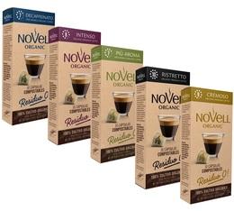 Pack découverte capsules compostables bio compatibles Nespresso - Novell Organic