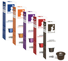 Discovery pack : 40 Caffitaly coffee capsules for Caffitaly machines