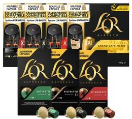 Pack découverte L'Or Barista et compatibles Nespresso - 7 x 10 capsules