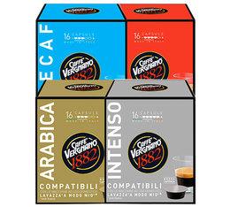 Pack découverte - 64 capsules Lavazza a Modo Mio® compatibles Caffè Vergnano
