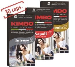 Pack découverte 3 x 10 capsules compatibles Nespresso - Kimbo