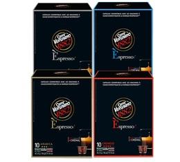 Pack découverte Caffè Vergnano - 40 capsules pour machines Caffe Vergnano