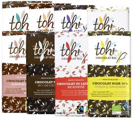 Pack découverte Tablette de chocolat 7x70g - Tohi