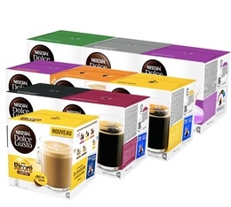 Introductory offer, 144 Nescafe Dolce Gusto coffee capsules - 9 varieties.