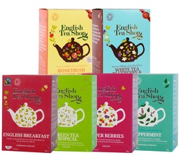 Selection pack of organic teas and infusions - 6 boxes - English Tea Shop