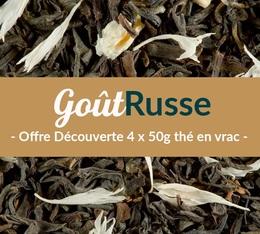 Pack découverte Thé noir Goût Russe (4 x 50 g) - Exclusif MaxiCoffee