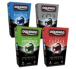 Pack découverte 40 capsules compatibles Nespresso® Oquendo