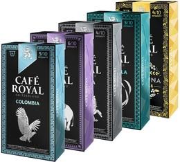 Pack découverte - 50 capsules (Pure Origine) Café Royal pour Nespresso