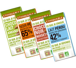Pack de 4 Minis tablettes de chocolat 4x30g - Ethiquable