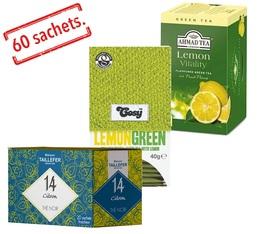 Lemon tea selection pack - 1 lemon black tea and 2 lemon green teas x 60 sachets