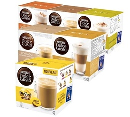 Introductory offer of 96 Nescafe Dolce Gusto capsules - 6 varieties.
