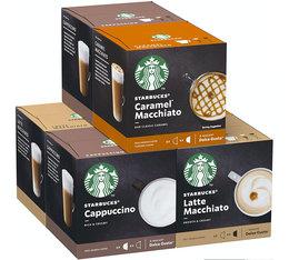 Pack découverte latte capsules Nescafe® Dolce Gusto® 6 x 12 - Starbucks