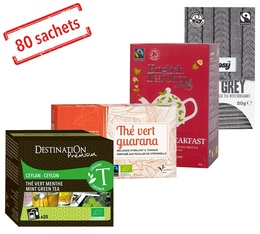 Organic Tea Selection Pack - 4x20 sachets by various brands