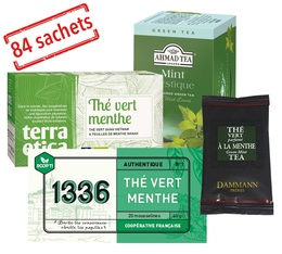 Mint Green Tea selection pack x 84 individually-wrapped tea bags