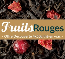 Pack découverte Thé Fruits Rouges (4x50g) - Exclusif MaxiCoffee