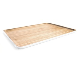 Pebbly bamboo L serving tray - 40cm