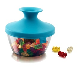 Vacu Vin 'PopSome' airtight food container in blue - 140g capacity