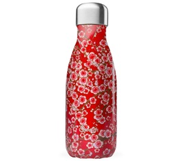 Bouteille isotherme Qwetch Flowers - Inox - 26 cl