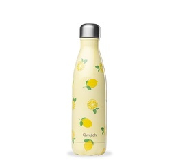 Bouteille isotherme inox - Fruits motif Citron - 500ml - QWETCH