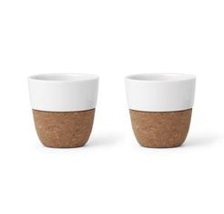 e52f1a5f118 Set of 2x25cl LAUREN porcelain and cork cups - VIVA Scandinavia