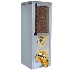 Silo à café professionnel KBN101 en inox (nouveau design) - 8 kg - Kuban Coffee