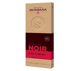 Tablette chocolat noir 65% cacao 100g - Monbana