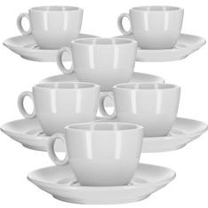6 Tasses et sous-tasses café long 12cl - modèle Alba
