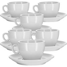 6 Tasses et sous-tasses thé/cappuccino 17.5cl - modèle Alba