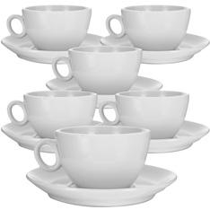 6 Tasses et sous-tasses à déjeuner 29cl - modèle Alba
