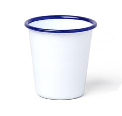 Tasse blanche avec bordure bleue 31 cl - Falcon Enamelware