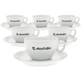 6 tasses cappuccino et sous-tasses porcelaine 17.5 cl - Maxicoffee