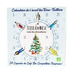 Terramoka 2019 organic coffee Advent Calendar - 24 biodegradable pods for Nespresso