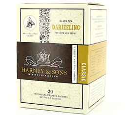 Thé Noir sachet Darjeeling - 20 sachets pyramides - Harney and Sons