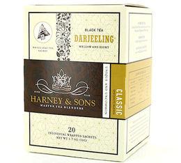 Thé Noir sachet Darjeeling - 20 sachets pyramides - Harney and Sons