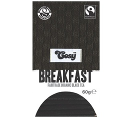 Organic Breakfast black tea - 20 individually-wrapped tea bags - Cosy