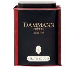 N°4 : 4 Fruits Rouges flavoured black tea - 100g tin of loose leaf tea - Dammann Frères