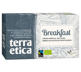 Breakfast black tea  - 20 individually-wrapped tea bags - Terra Etica