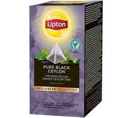 Thé Noir Ceylan - 25 Sachets Pyramides - Exclusive Selection - Lipton