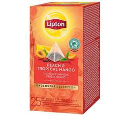 Lipton Peach & Tropical Mango black tea - 25 pyramid bags from the Exclusive Selection range