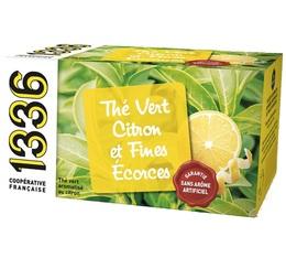 Thé vert citron et écorces fines - 20 sachets Mousselines - 1336 (Scop TI)